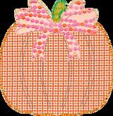 Pumpkin with Bow Applique