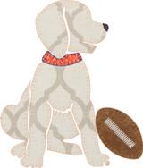 Football Pup Boy Applique