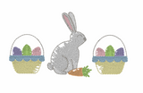 Easter Bunny Baskets Quick Stitch Embroidery