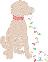 Christmas Lights Doodle Boy Quick Stitch Embroidery