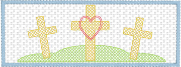 Faux Smocked Easter Cross Trio