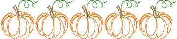 Classic Pumpkin Line Quick Stitch