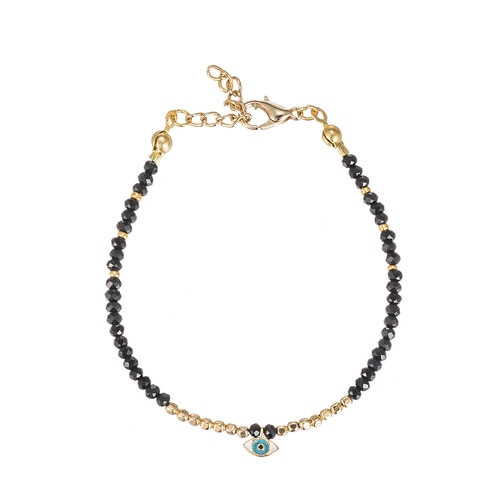 Ladies Evil Eye Friendship Bracelet in Gold Plated