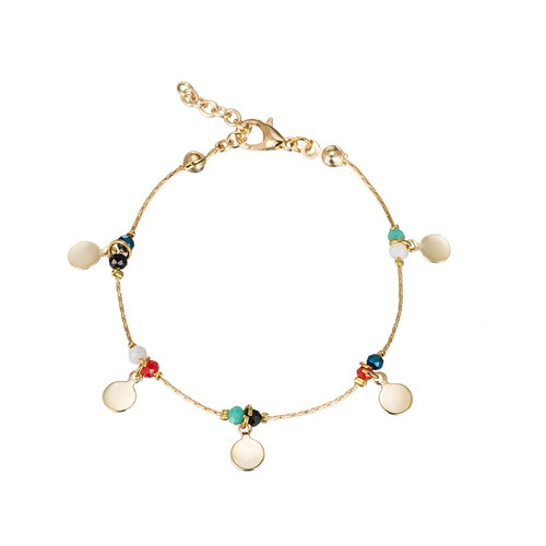 Ladies Five Point Friendship Bracelet in Gold Plated