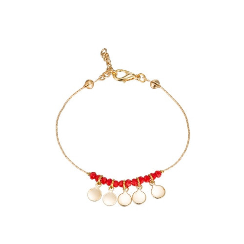 Ladies Five Flakes Gold Plated Bracelet