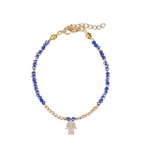 Ladies Hand of Fatima Gold Plated Bracelet