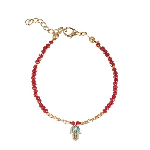 Ladies Fatima Hand Gold Plated Bracelet