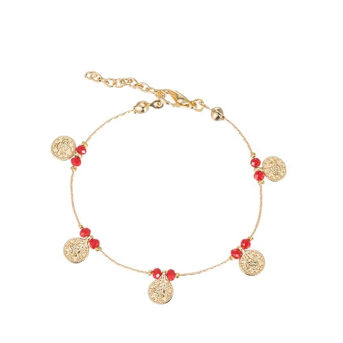 Ladies Ottoman Coin Gold Plated Bracelet