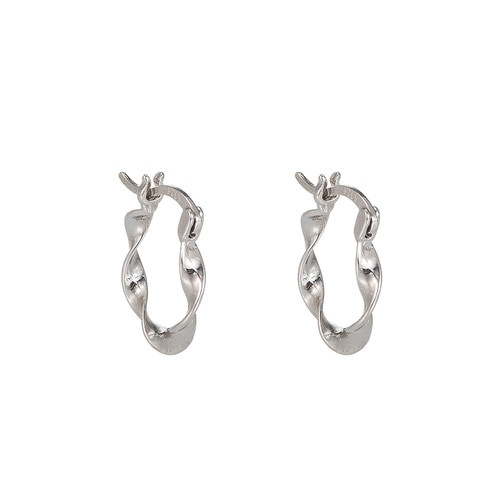 Ladies Abstract Sterling Silver Earrings
