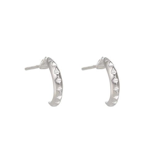 Ladies Well Sterling Silver Earrings