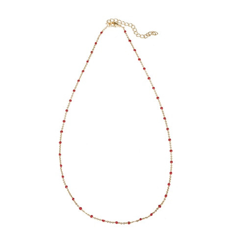 Ladies Little Beaded Gold Plated Necklaces