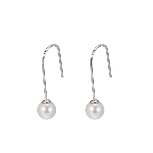 Ladies Freshwater Pearl Drop Earring in Sterling Silver