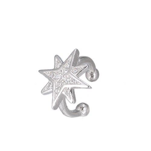 Ladies Compass Star Ear cuff in Sterling Silver