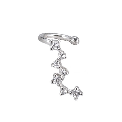 Ladies Comet Ear cuff in Sterling Silver
