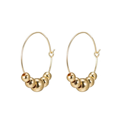 Ladies Five Balls Earring in Gold Plated