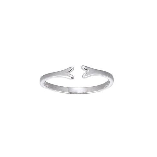 Ladies Adjustable Fork Sterling Silver Ring