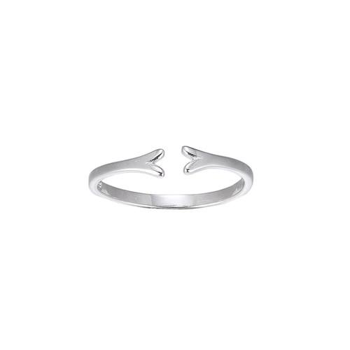Ladies Adjustable Fork Sterling Silver Ring