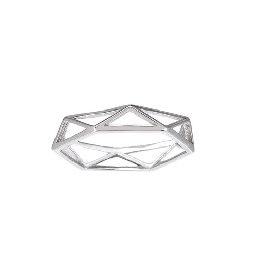 Ladies Cage Sterling Silver Ring