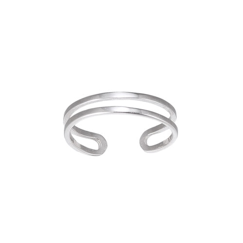 Ladies Adjustable Double Band Sterling Silver Ring