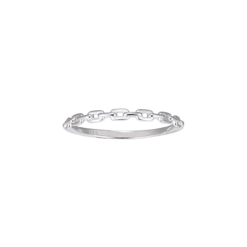 Ladies Chain Sterling Silver Ring