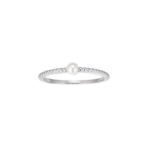 Ladies Freshwater Pearl Sterling Silver Ring
