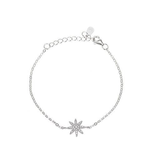 Ladies Octagram Sterling Silver Bracelet
