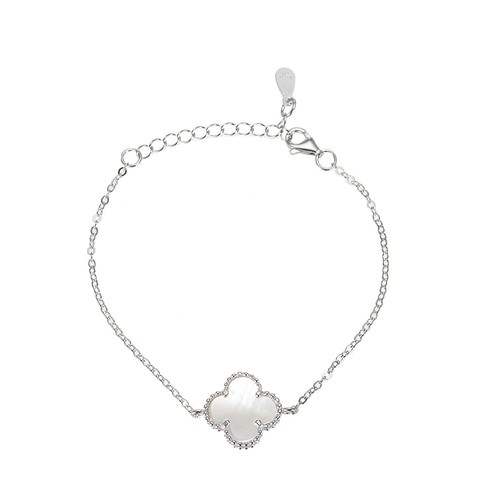 Ladies Lucky Four Sterling Silver Bracelet