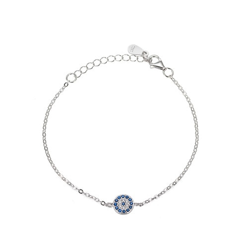Ladies Evil Eye Sterling Silver Bracelet