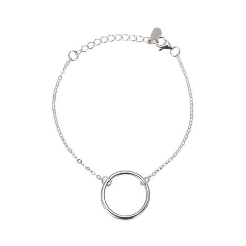Ladies Circle Sterling Silver Bracelet