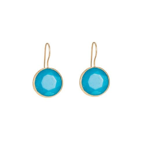 Ladies Aqua Blue Dangly Earrings
