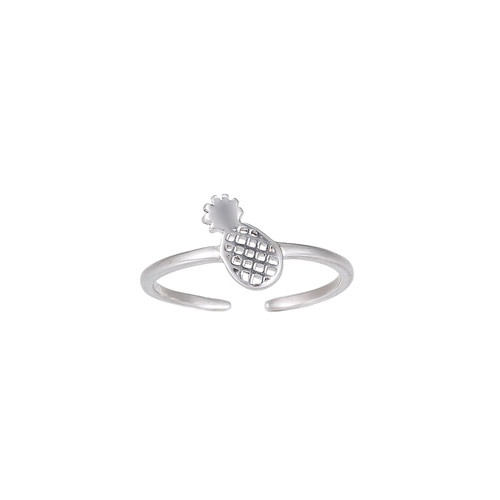 Ladies Adjustable Pineapple Sterling Silver Ring