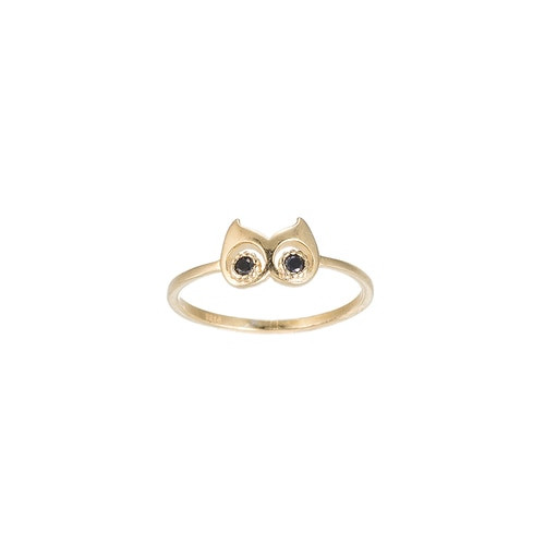 Ladies Owl Sterling Silver Ring