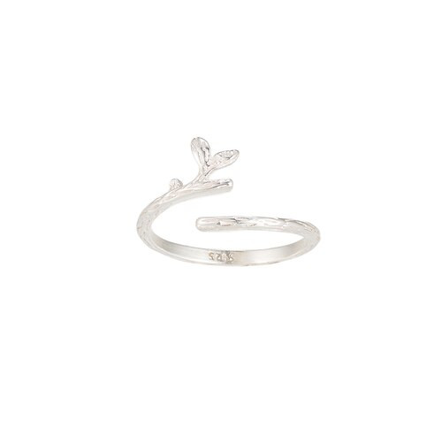 Ladies Adjustable Branch Sterling Silver Ring