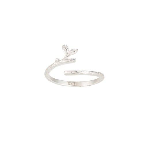 Ladies Adjustable Branch Sterling Silver Ring