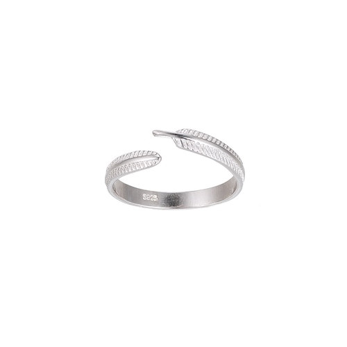Ladies Feather Sterling Silver Ring
