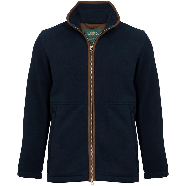 Dark Navy Blue Mens Alan Paine Aylsham Windblock Fleece Jacket