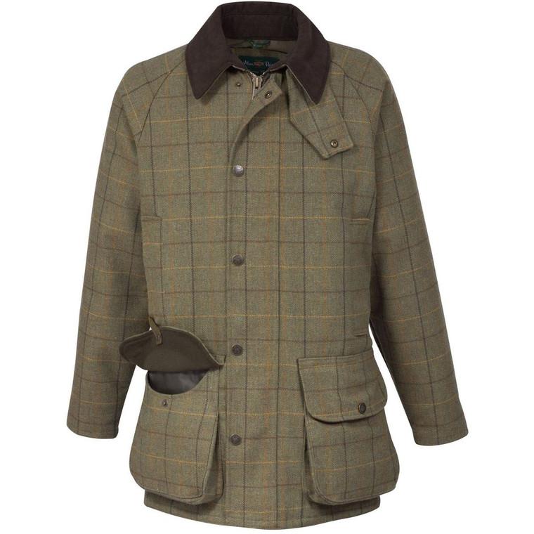Dark Moss Green Mens Alan Paine Rutland Coat