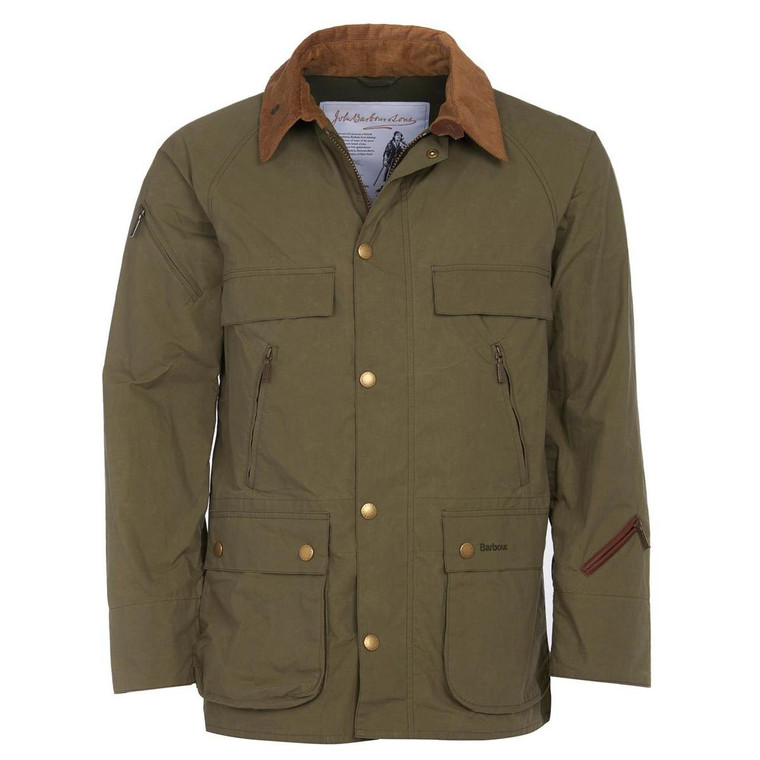 Olive Green Mens Barbour Bedale Casual Jacket