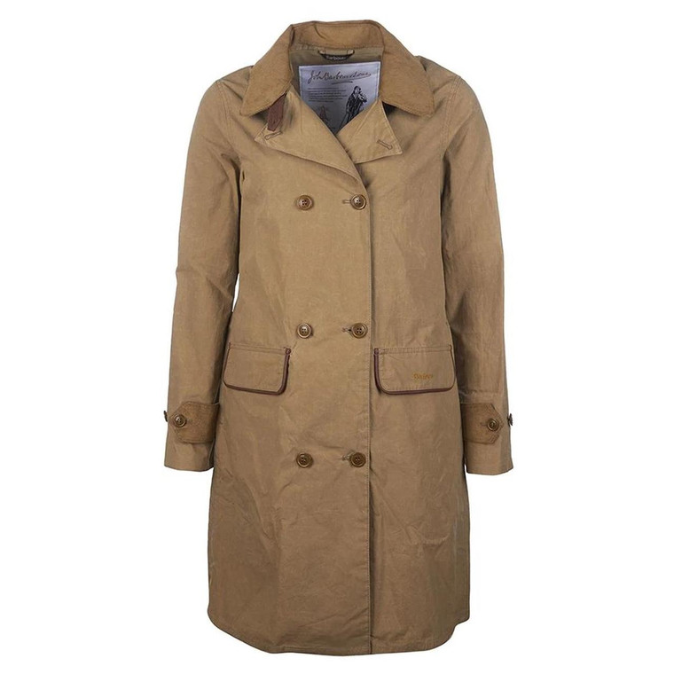 Sand Brown Ladies Barbour Re-engineered Haydon Showerproof Jacket