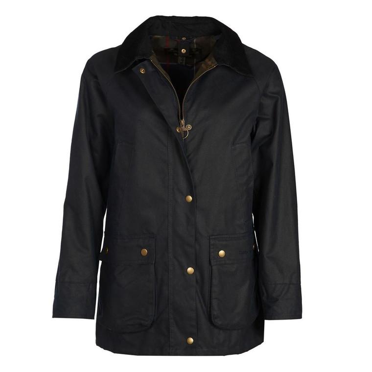 Navy Blue Ladies Barbour Acorn Wax Jacket