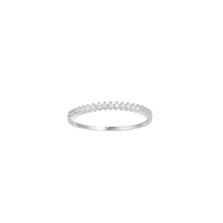 Ladies Bunch of Zirconia Sterling Silver Ring
