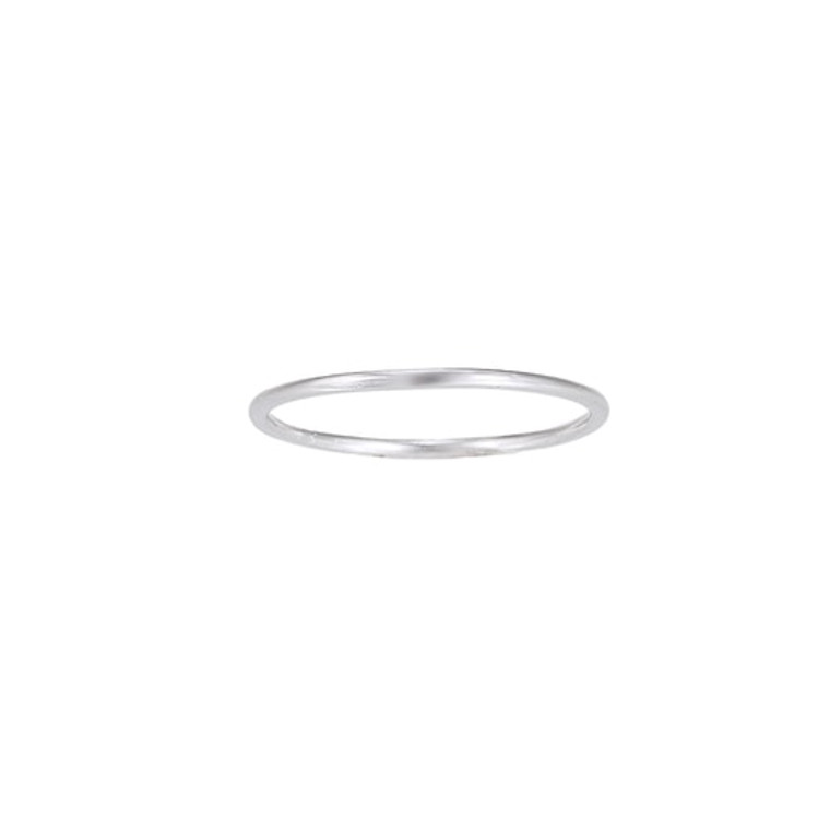 Ladies Band Sterling Silver Ring