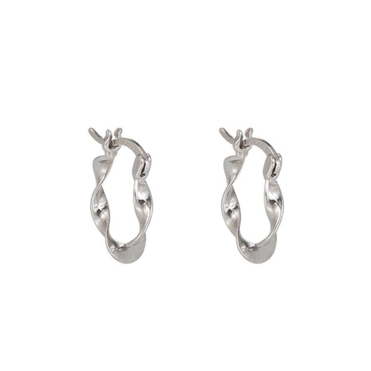 Ladies Abstract Sterling Silver Earrings