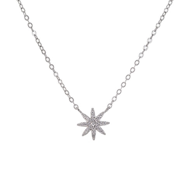 Ladies Fairy Star Sterling Silver Necklace