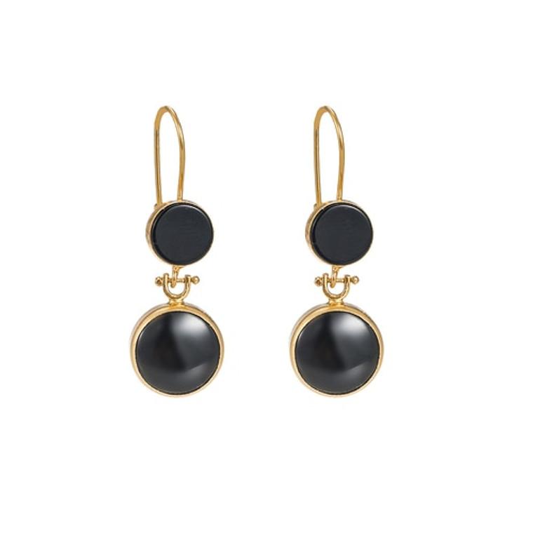 Ladies Onyx Dangly Earrings