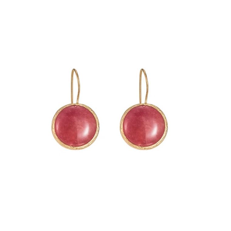 Ladies Red Agate dangly Earrings