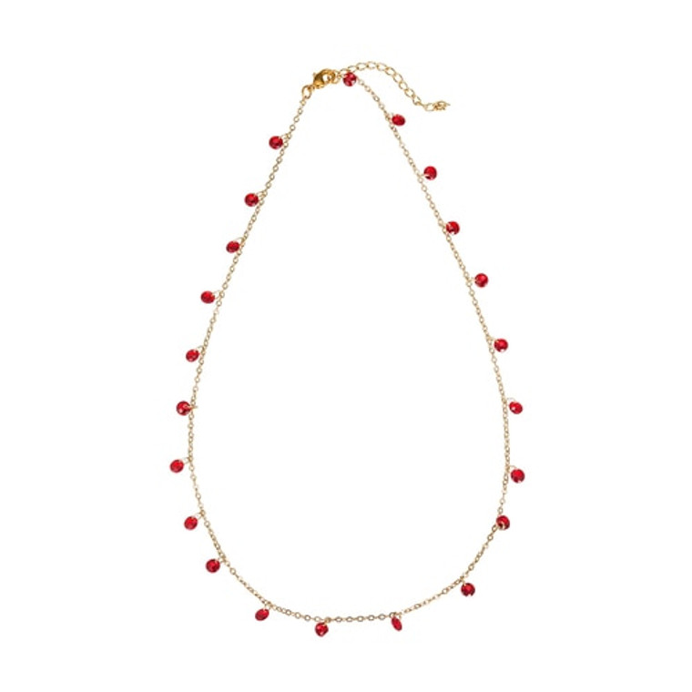 Ladies 18ct Gold Plated Dangly Crystal Necklaces