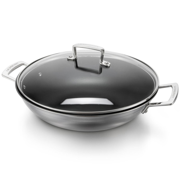 Le Creuset 3 Ply Stainless Steel Non-Stick Wok