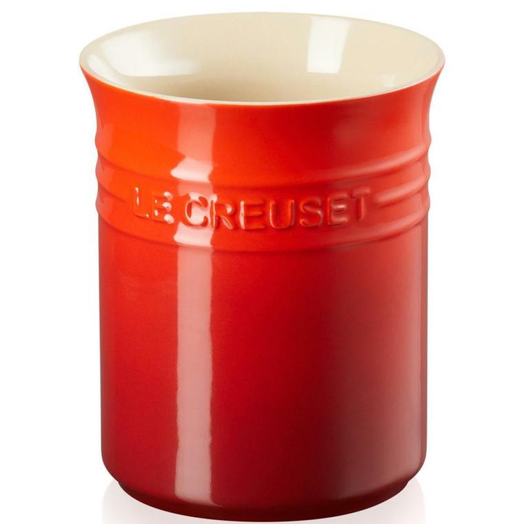 Cerise Red Le Creuset Stoneware Small Utensil Jar