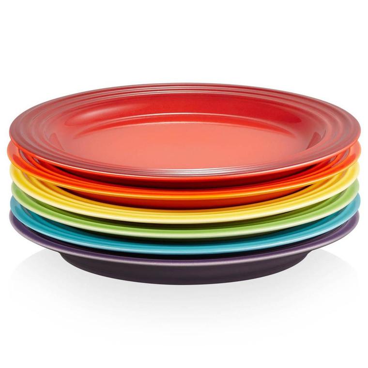 Le Creuset Stoneware Rainbow Set Of 6 Side Plates